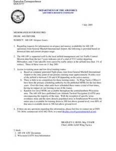 Air Memo For Record Template by Executive Correspondence Memorandum For Record Dated 07