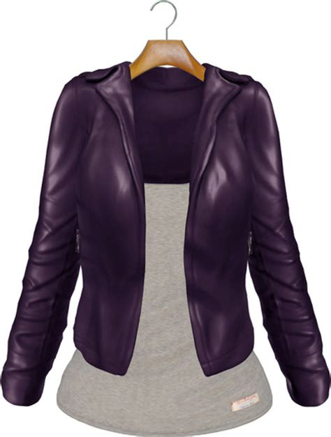 Dpurple Coat Blazer Ungu Korea Jaket second marketplace blueberry mesh leather jacket with t shirt purple