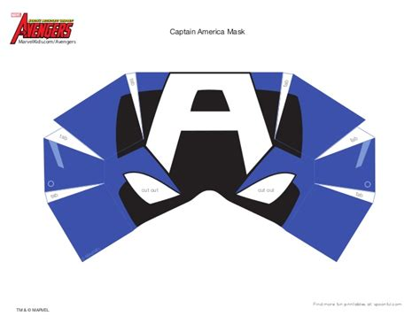 printable mask avengers dm avenger captain america mask printable 0910
