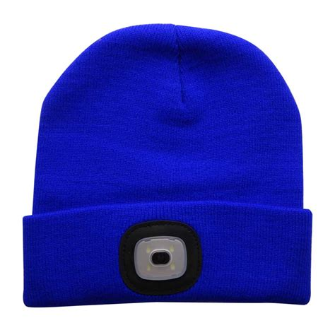 beanie hat with led light 4led knit hat flashlight cap for outdoor climbing fishing