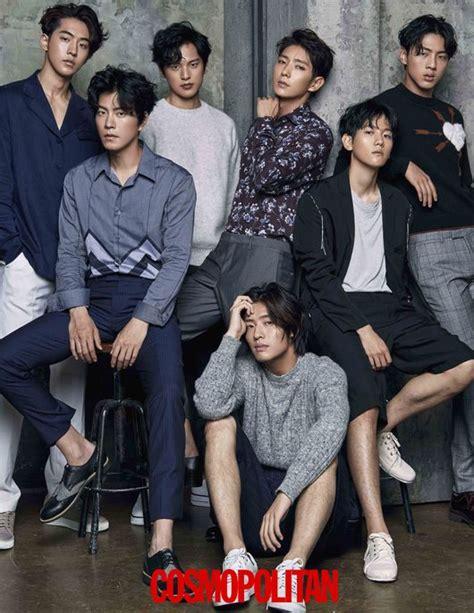 Majalah Korean Drama pemain drama scarlet goryeo berpose untuk majalah cosmopolitan koreanindo