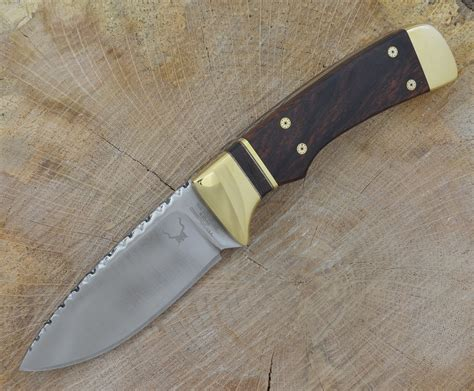 knife with pattern this muhlhauser prototype fixed blade knife was hand made