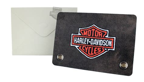 hdl 20024 harley davidson 174 wallet die cut embossed money gift card holder - Harley Gift Cards