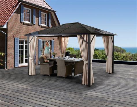 pavillon mit festem dach 3x4 pavillon 187 aruba 171 mit seitenteilen bxt 300x400 cm