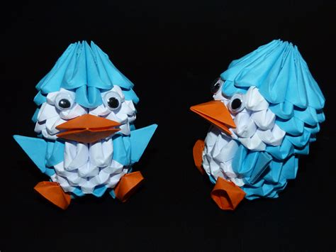 3d origami penguin tutorial by spkmw on deviantart 3d origami penguin by serahkyu77 on deviantart