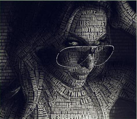 typography portrait tutorial photoshop cs3 80 amazing exles of typography portrait 56pixels com