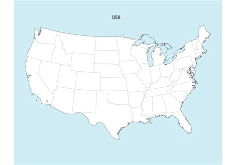 usa map free united states map vector free vector stock