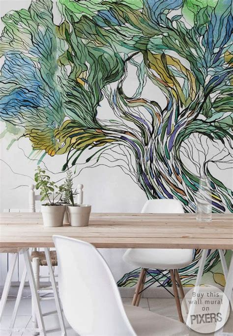 Interior Wall Murals 25 best ideas about tree wall murals on pinterest wall
