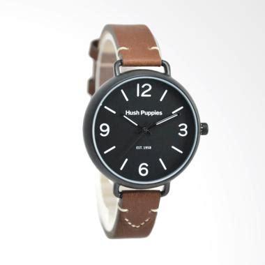 Jam Tangan Wanita Hush Puppies Biru Leather jual hush puppies hp 3851l 2502 jam tangan wanita coklat hitam harga kualitas