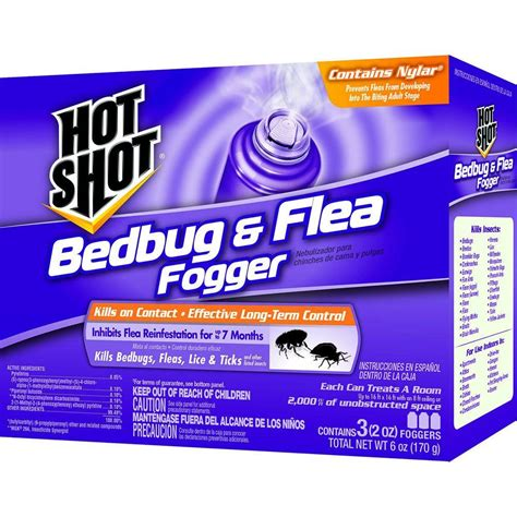 bed bug bombs home depot hot shot bed bug and flea killer 2 oz aerosol fogger 3