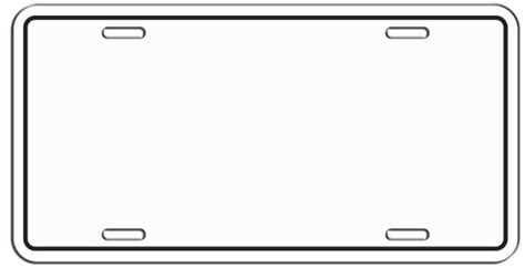 License Plate Template Google Search Planes Trains Automobiles License Plate Crafts Printable License Plate Template