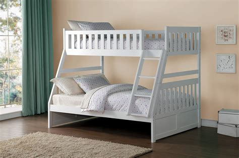 white bunk bed twin over full homelegance galen twin over full bunk bed white b2053tfw
