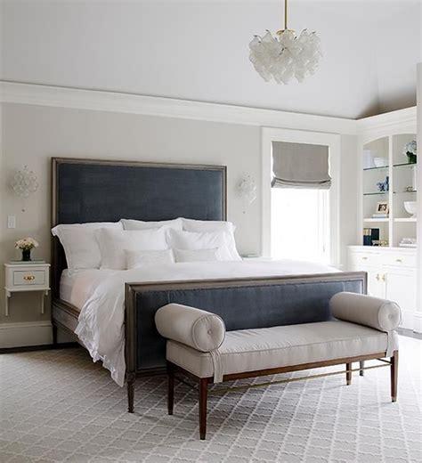 Gray Bedroom With Blue Velvet Headboard Normally I Hate Navy And Gray Bedroom