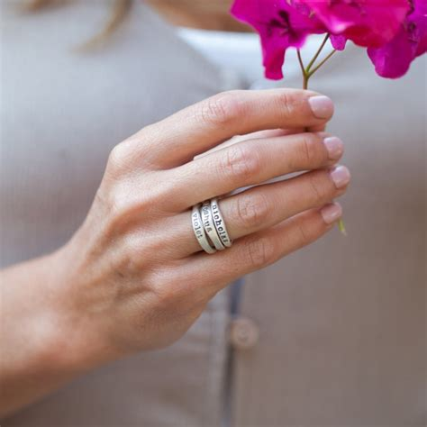 stacking name rings sterling silver and their meaning by