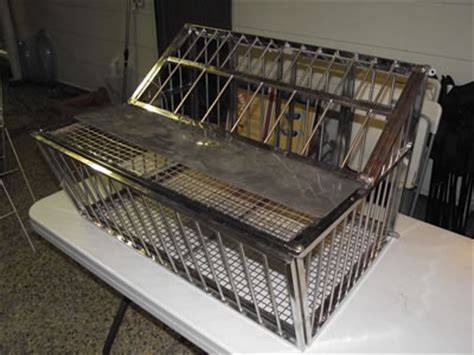 stainless steel trap door pigeon cage for pigeon and protecting
