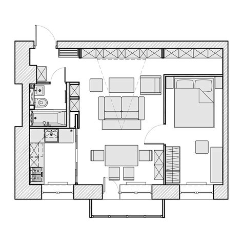 flat layout design 3 beautiful homes under 500 square feet