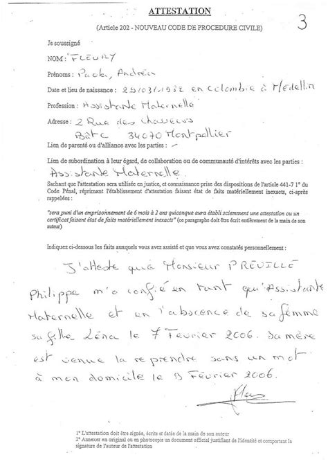 Exemple De Lettre Temoin D Modele Attestation 202 Document