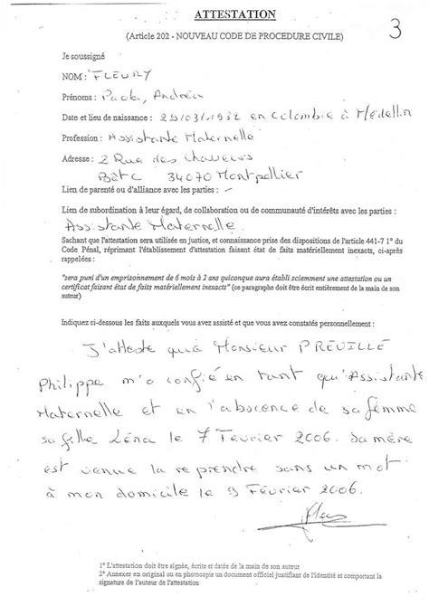 Exemple Attestation Bon Père De Famille Divorce Modele Attestation De Bon Pere 224 T 233 L 233 Charger