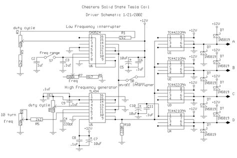 Musical Tesla Coil Schematic Solid State Coil Driver Theory 28 Images Schematics