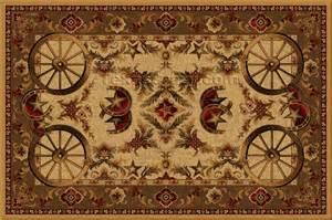 Western Area Rugs Buy Western Wagon Wheel 5 X 8 Area Rug Rug Store