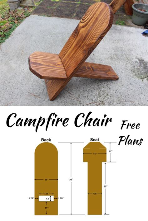 campfire chair plans diy wood projects wooden projects