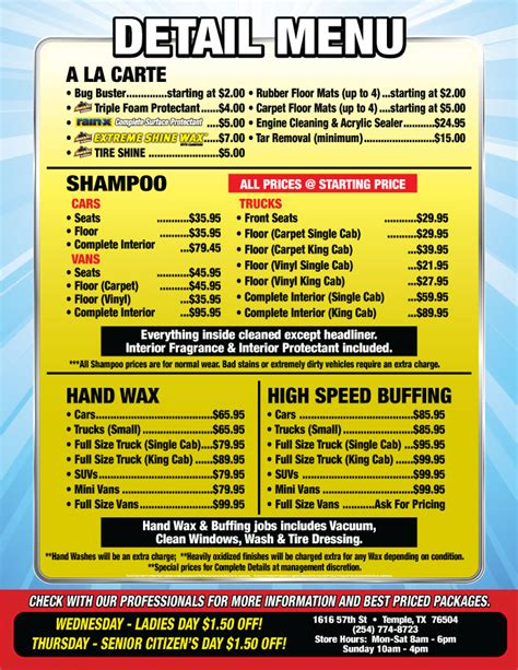 boat detailing pricing car interior detailing cost