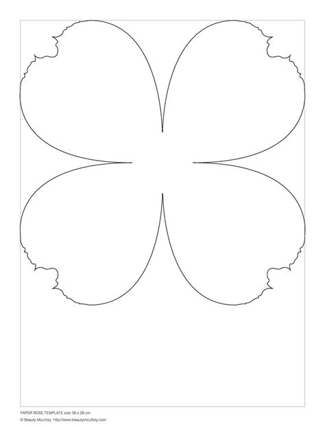 233 Best Kroy Images On Pinterest Paper Flowers Diy Flowers And Paper Flower Templates Large Paper Flower Template Printable