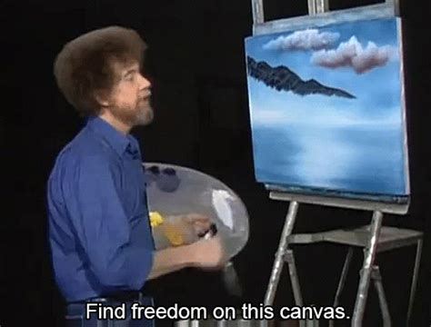 bob ross painting gif free gif find on giphy