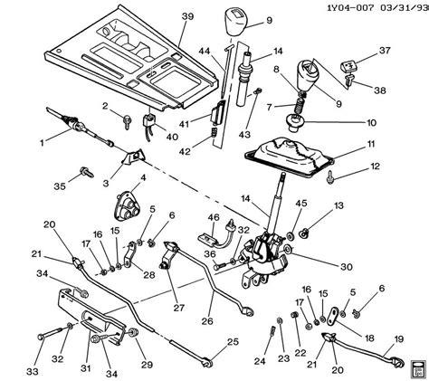 online service manuals 1986 chevrolet corvette transmission control shift controls manual transmission 4 speed