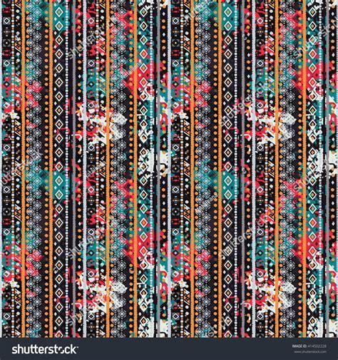 hippie tribal pattern ethnic boho seamless pattern tribal art stock vector