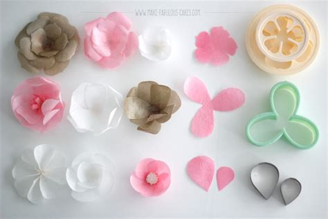 How To Make Wafer Paper Flowers - glam baptism cake with wafer paper flowers