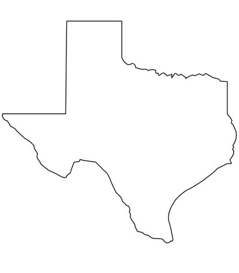 texas map shape free coloring pages of texas shape