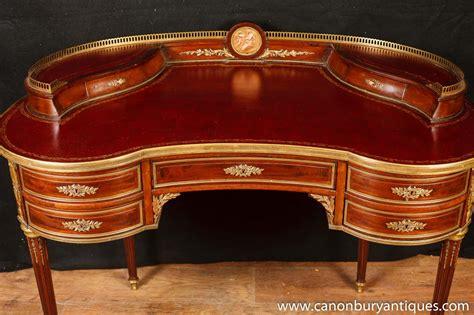 Kidney Bean Shaped Desk Antique Empire Desk Kidney Bean Desks 1885