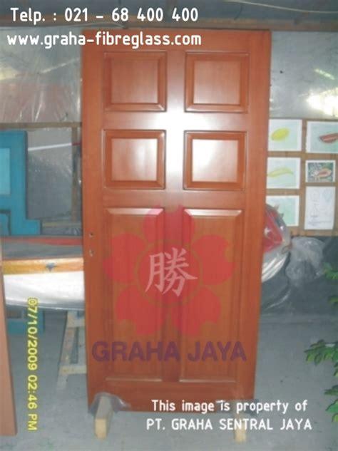 Daun Pintu Kayu Tebal Kuat Tahan Lama Awet Anti Rayap Tanpa Gagang daun pintu dan kusen fibreglass tekstur urat kayu toilet