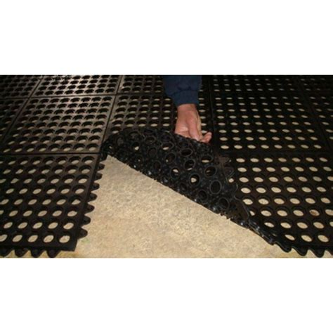non slip rubber link mats with drainage holes non slip