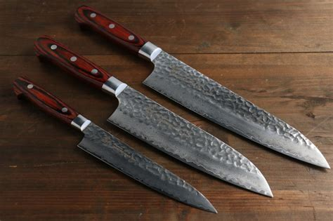 japan kitchen knives sakai takayuki 33 layer gyuto santoku and petty japanese