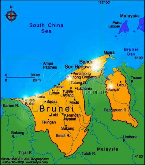 brunei on the world map brunei darussalam map travelquaz brunei