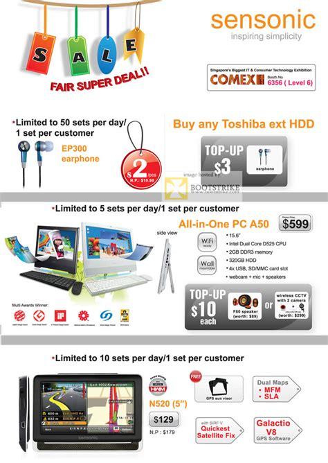 Sensonic M35 mclogic sensonic earphone gps aio desktop pc a50 ep300 n520 comex 2011 price list brochure flyer