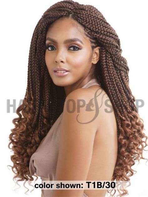 how to curl the ends of synthetic braids mane concept afri naptural crochet loop curly ends box
