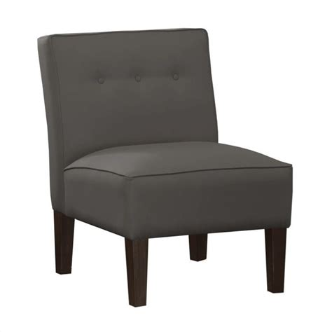 grey slipper chair features