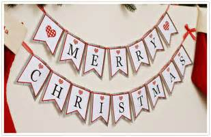paper party love free printable merry christmas banner