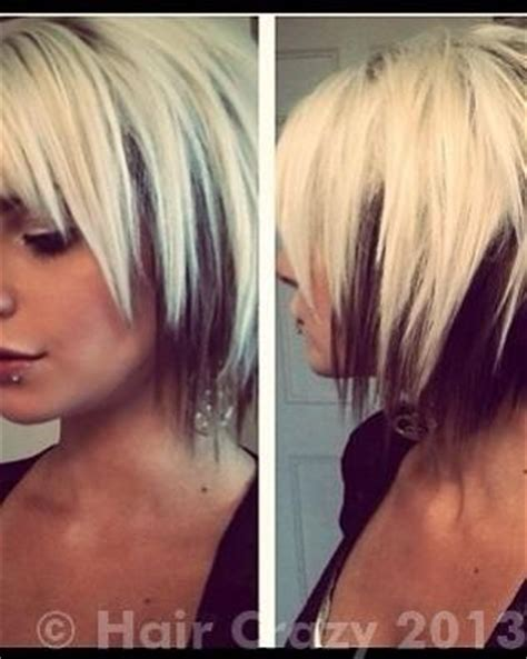 bob hairstyles with color underneath short layered two tone hair blonde on top brown under
