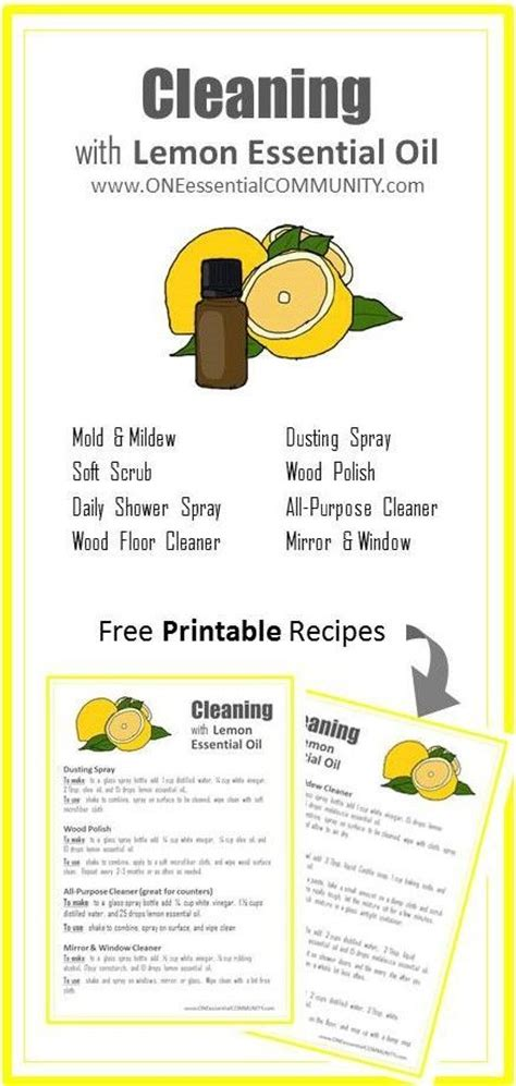 printable young living oil recipes 17 best images about essential oil recipes how to s on