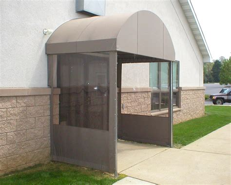 Awning Sales Rounded Top Entrance Canopy With Vestibule Sides Kreider
