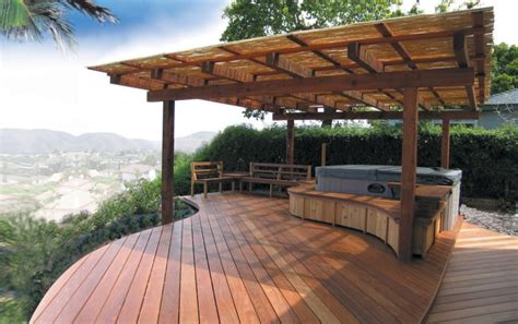 hot tub deck interior design ideas