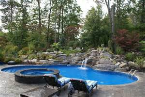Lagoon Style Pool And Spa Pictures To Pin On Pinterest Lagoon Swimming Pool Designs