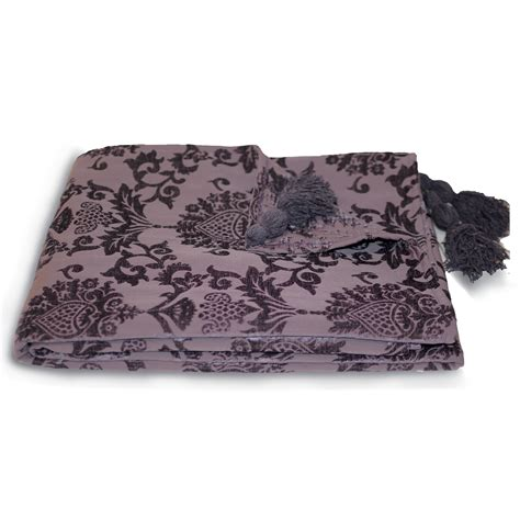 chenille throw blankets for sofa damask chenille throw over paoletti modern bed blanket