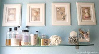 bathroom artwork ideas diy framed shell art