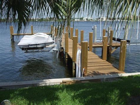 boat dock florida tropical wood dock double jet ski lift 16 000 cradle