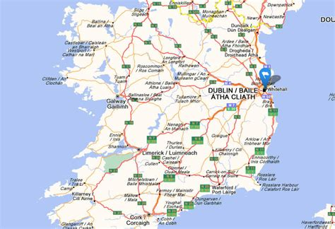 printable road maps ireland road map of ireland